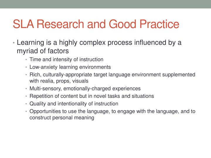 SLA Research and Good Practice