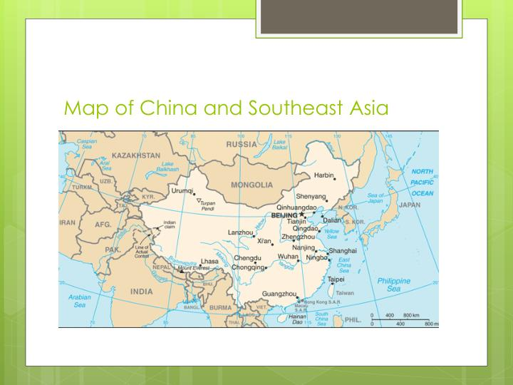 Map of China and Southeast Asia