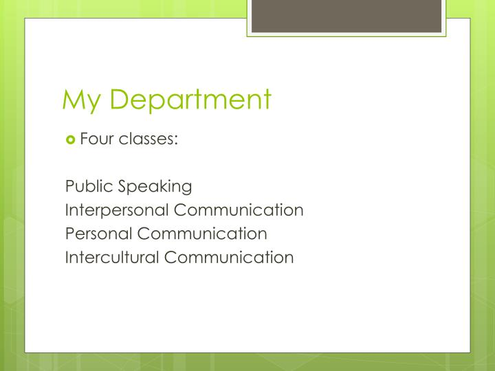 My Department