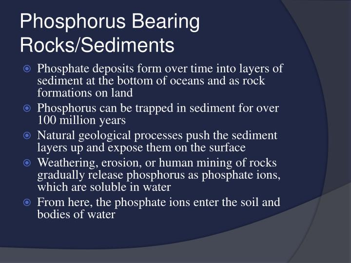 Phosphorus Bearing Rocks/Sediments
