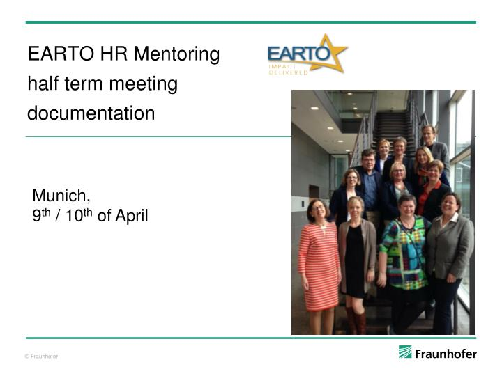 Earto hr mentoring h alf term meeting d ocumentation
