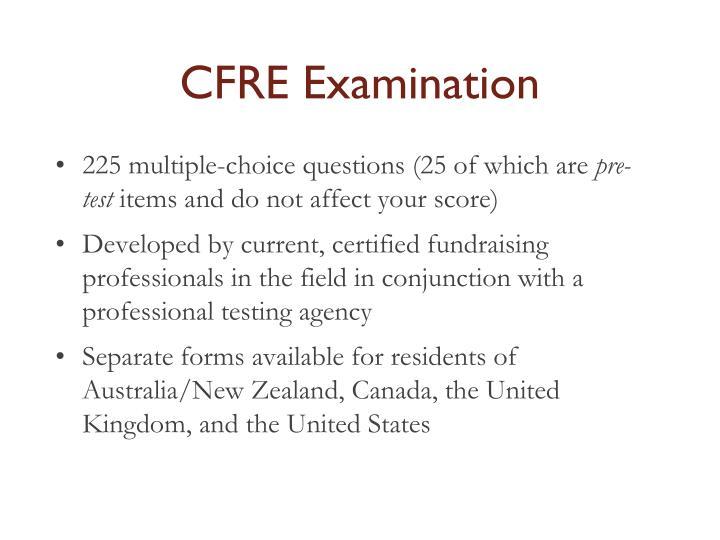 CFRE Examination