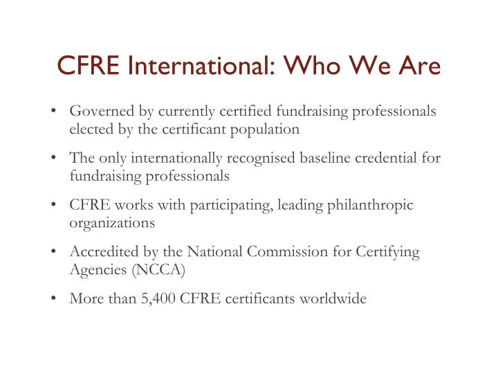 CFRE International: Who We Are