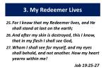 3 my redeemer lives
