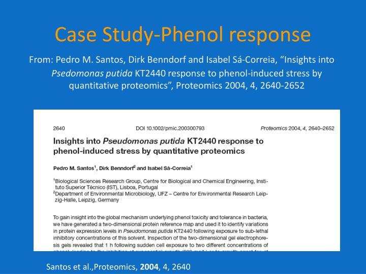 Case Study-Phenol response