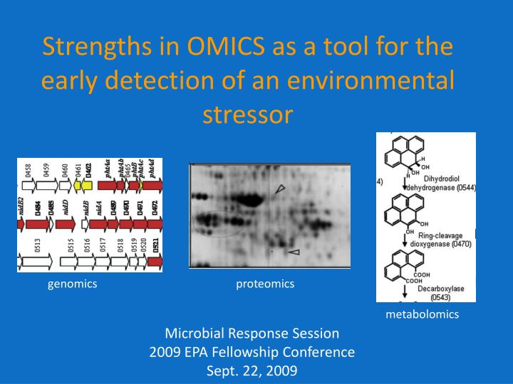 Strengths in omics as a tool for the early detection of an environmental stressor