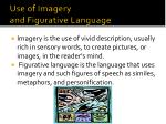 use of imagery and figurative language