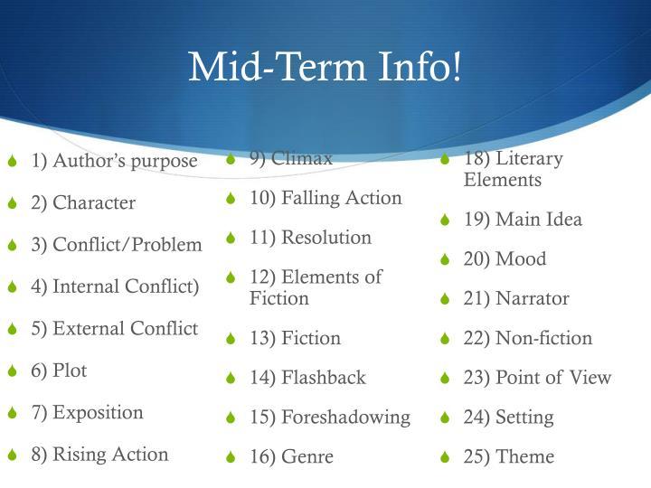 Mid-Term Info!