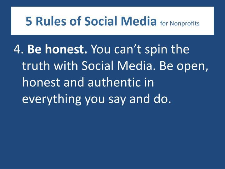 5 Rules of Social Media