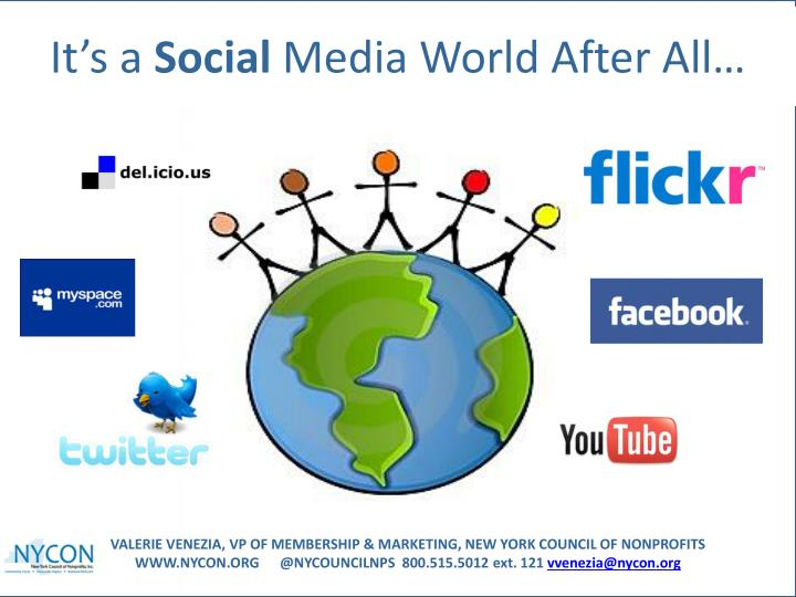 It s a social media world after all