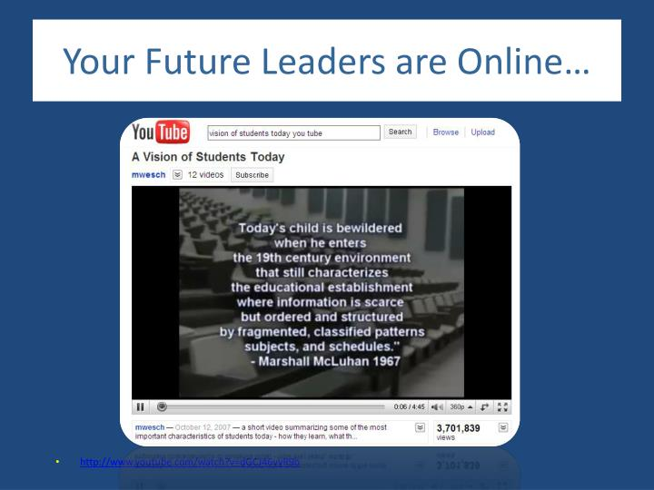 Your Future Leaders are Online…