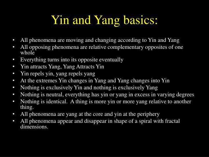 Yin and Yang basics:
