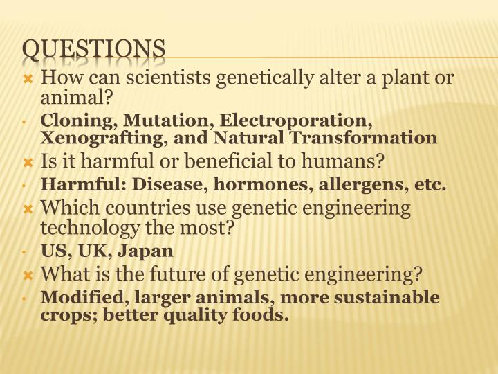 How can scientists genetically alter a plant or animal?