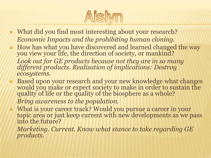 What did you find most interesting about your research?