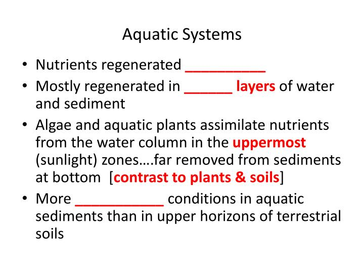 Aquatic Systems