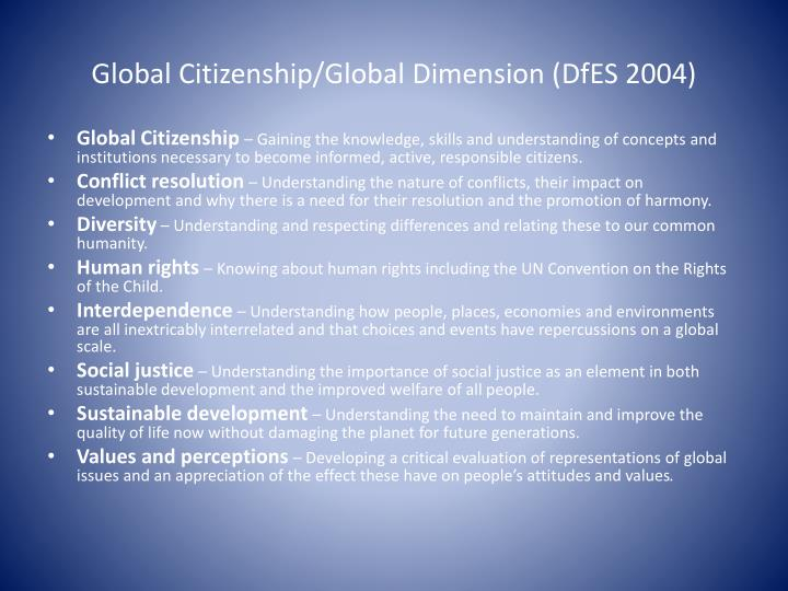 Global Citizenship/Global Dimension (
