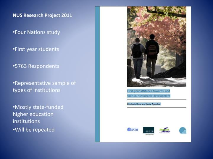 NUS Research Project 2011
