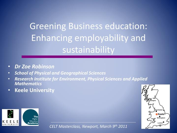 Greening Business education: Enhancing employability and sustainability
