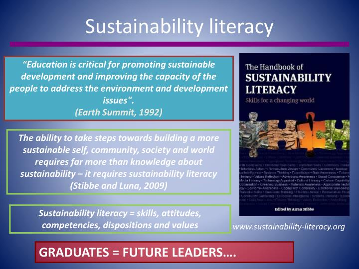 Sustainability literacy