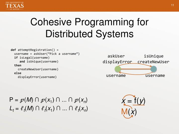 Cohesive Programming for Distributed
