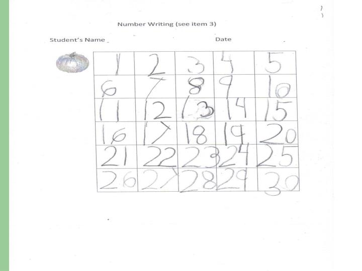 Number Writing in May