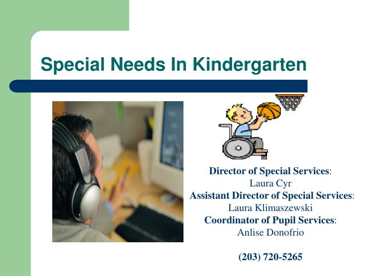 Special Needs In Kindergarten
