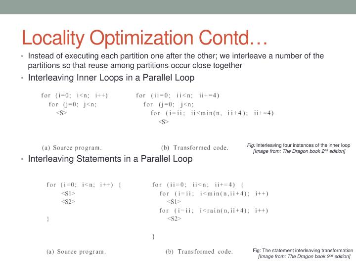 Locality Optimization