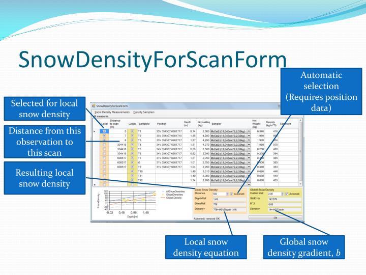SnowDensityForScanForm