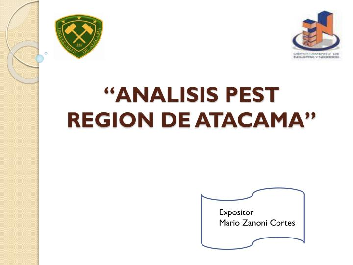 Analisis pest region de atacama