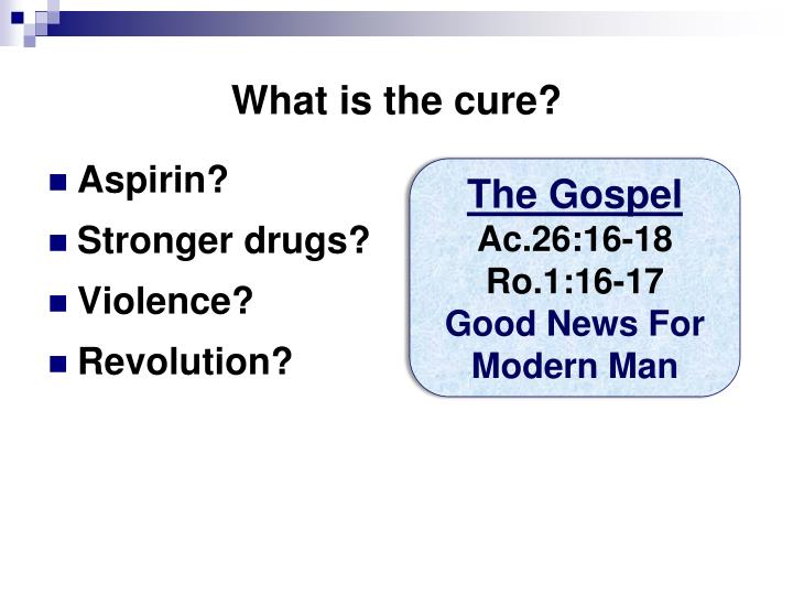 What is the cure?