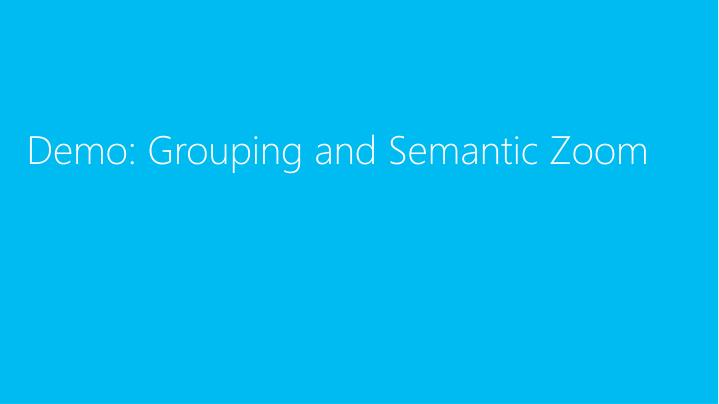 Demo: Grouping and Semantic Zoom
