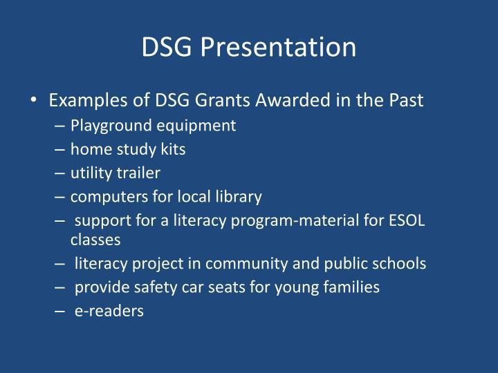 DSG Presentation