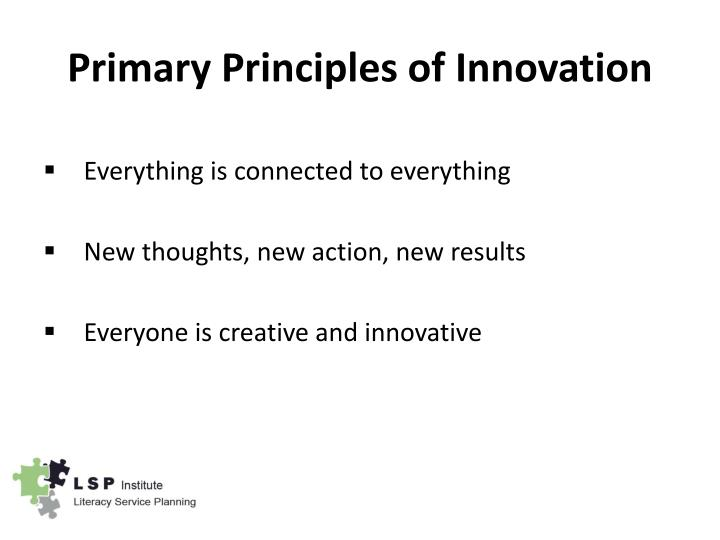 Primary Principles of Innovation