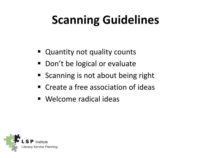 Scanning Guidelines