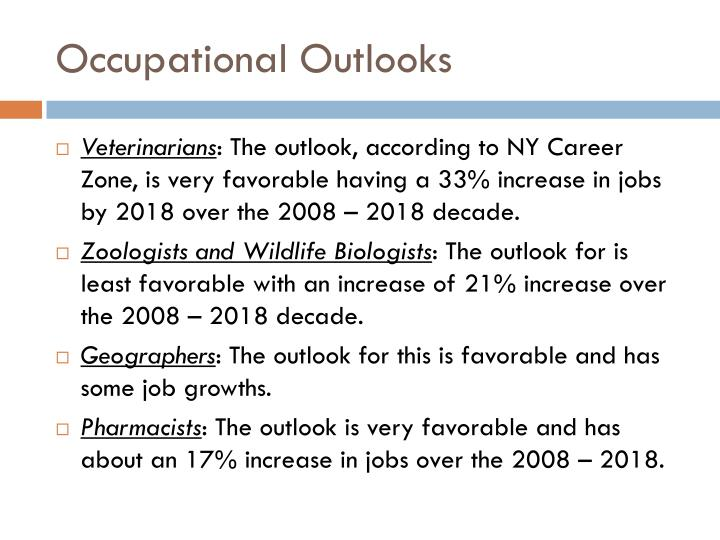 Occupational Outlooks
