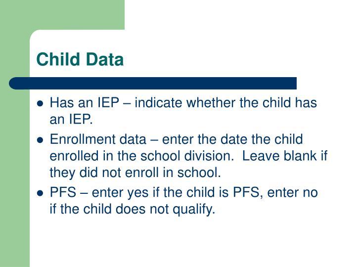 Child Data