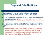 required data sections1