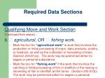 required data sections11
