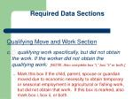required data sections3