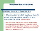 required data sections5