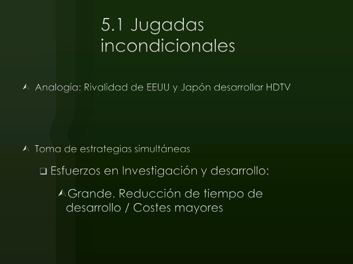 5.1 Jugadas incondicionales