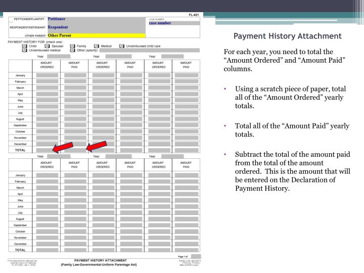Payment History Attachment