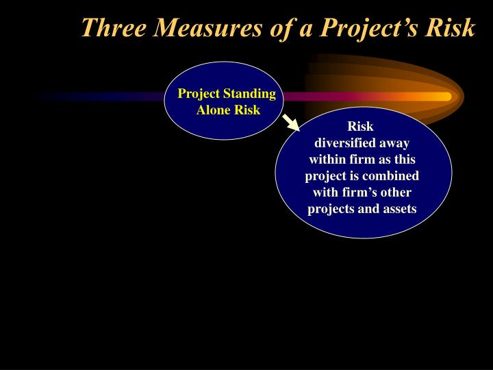 Three measures of a project s risk1