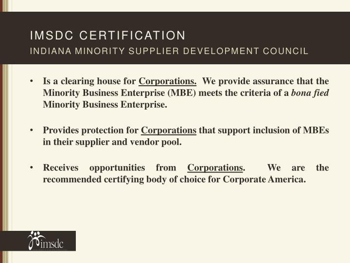imsdc certification