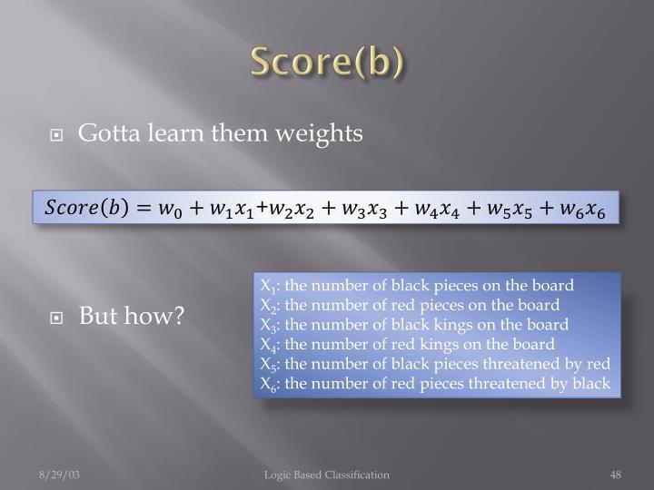 Score(b)