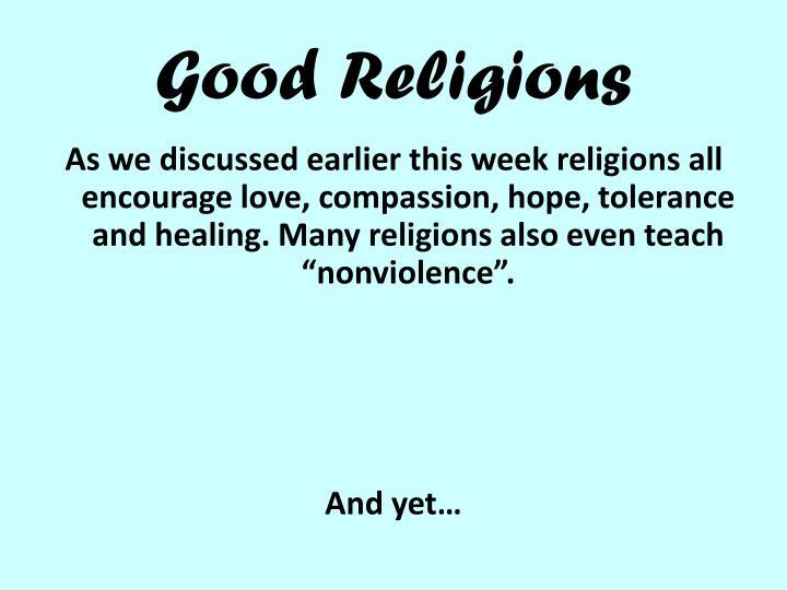 Good Religions