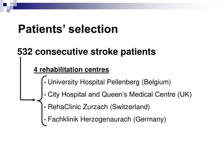 Patients' selection