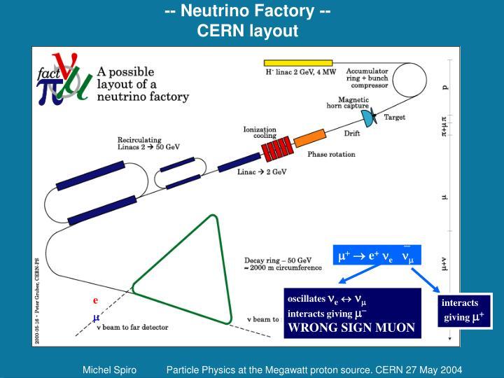-- Neutrino Factory --