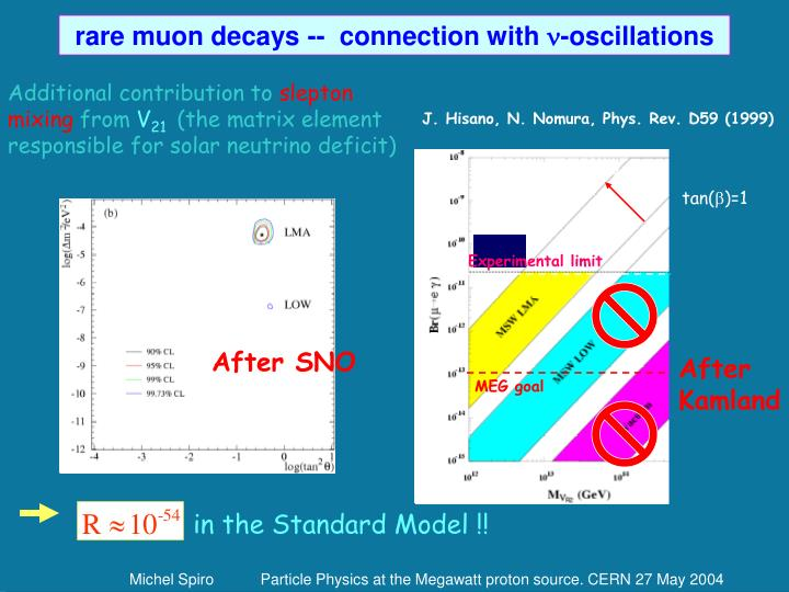 rare muon decays --  connection with