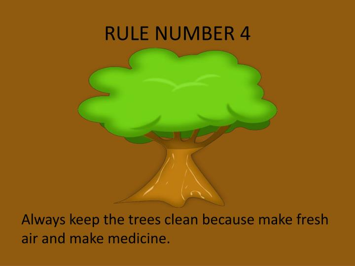 RULE NUMBER 4